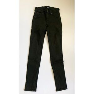 Hudson Collin Midrise Skinny Jeans Army Green